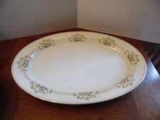 16 1/4 Inch Oval Serving Platter in Arbor by Meito Floral