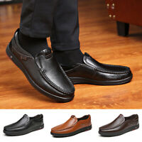 Men's Business Dress Shoes Casual Slip On Loafers Comfortable Driving Flat Shoes