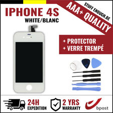 AAA+ LCD TOUCH SCREEN/SCHERM/ÉCRAN WHITE BLANC &VERRE TREMPÉ+TOOLS FOR IPHONE 4S