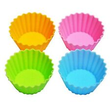 Set of 4 ECO Re-usable Silicon Bento Box Food Cup Jelly Mold S-3337 AU