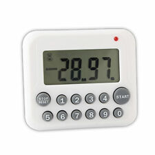 White Digital LCD Kitchen Cooking Sport CountDown Timer Clock 12 Key 99 Minute