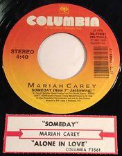 "Mariah Carey 45 Someday (New 7"" Jackswing) / Alone In Love  w/ts"