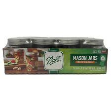 12 Pack 8oz Ball Regular Mouth Canning Mason Jars (1/2 Pint)