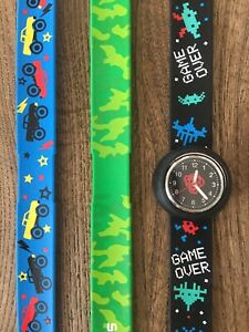 Smiggle Digital Slap Band Mix-up Watch Collectable *new battery*
