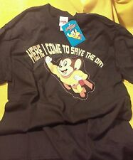 Mighty Mouse t-shirt MED 2006 Here I Come to Save the Day! NWT, NOS, brand new
