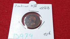 FRANCIA 2 DUE CENTESIMI NAPOLEONE III - 1856 B - OLD FRANCESE COIN - REF13979