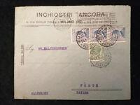 Italien 23.05.1922 - König Viktor Emanuel, Brief von Milano nach Fürth /Bayern