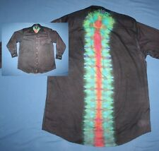 Tie Dye Dress Shirt 16 1/2 34-35 Mullet: business front party back Gray LS