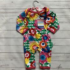 Baby Girls 3-6 Months Babygrow TOBY TIGER Organic Cotton Floral Multi Sleepsuit