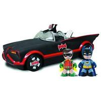 DAMAGED BOX MEZ-ITZ CLASSIC SERIES BATMOBILE + BATMAN & ROBIN FIGURES MEZCO