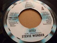 "STEVIE WONDER "" LATELY "" 7"" MOTOWN SINGLE VERY GOOD+ TMG 1226"