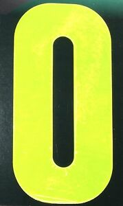 Number 0 HI VISIBILITY REFLECTIVE WHEELIE BIN Digit for house street unit cabin