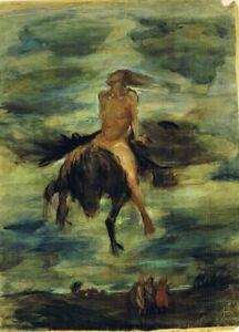 Clara Siewert A Witch on Pegasus 7x5 inch Print