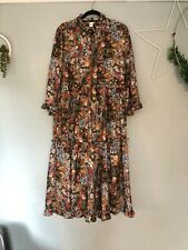 H&M Trend Floral Smock Midi Dress Bloggers Favourite Instagram 14 16 42 Sold Out