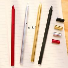 Creative Metal Gel Pens Material Escolar Colored School Supplies Writing Pens