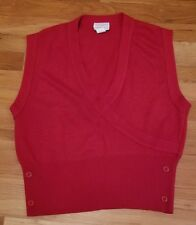 American Airlines womens vest wrap red size L large top vintage flight attendant