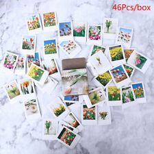 46Pcs Tulip Stationery Stickers Pack Posted Planner Scrapbooking Memo Sticker MW
