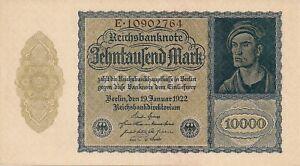 Germany   #72  10,000 Mark 1922 Unc