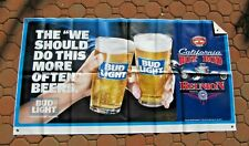 Large - NHRA 2017 CALIFORNIA HOT ROD REUNION VINYL BANNER Bakersfield Bud Beer