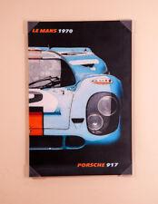 PORSCHE 917 LE MANS Tela Art Print allungato e Incorniciato