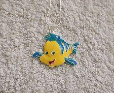La Sirenita Arila película inspiró grandes collar de encanto Flounder peces