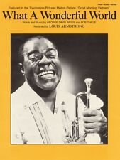 What a Wonderful World Sheet Music Piano Vocal Louis Armstrong NEW 000355528