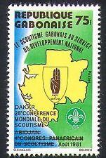 Gabón 1981 Scouts/Scouting/Conferencia Mundial/mapa/Insignia Scout 1v O/P (n36575)