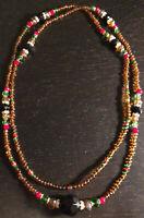 Collar (eleke) de Oshun Ibu Kole, Santeria, Yoruba, Lucumi