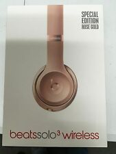 OPEN BOX- By Dre SOLO 3 ROSE GOLD  special Editi WIRELESS Manufacture refurbish