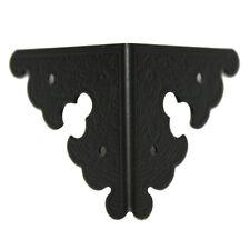 50 pcs Black Iron 34x34 mm Box Cabinet Edging Corner Decorative Plate FS8441