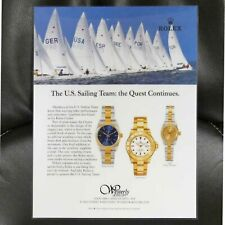 The Quest Continues. Laminated Stand Vintage Rolex The U.S. Sailing Team: