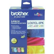 Brother Genuine LC-67CL3PK C/M/Y 3 Inks Color Pack For DCP 185C J715W MFC 490CW