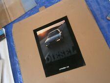 Catalogue pub auto prospectus voiture Citroën CX diesel