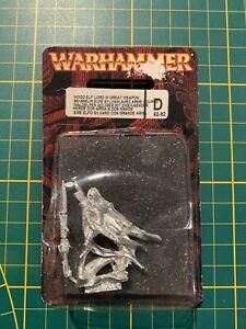 Warhammer Wood Elves Waldelfen Lord Adliger Great Weapon Metal Rare New Neu OOP