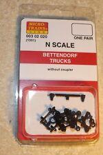 N Scale Micro-Train  BETTENDORF NO COUPLER (1001) truck # 003-02-020