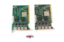 LOT OF 2 - 03N5444 IBM pSeries RS6000 4-Port 1GB RJ45 PCI-X SP Ethernet Adapter