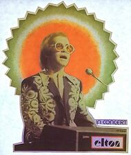 Vintage 70s Elton John in Concert Iron On Transfer Rock & Roll