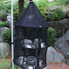 Durable 3 Levels Hanging Drying Rack Curing Dishes Herb Mesh Folding Dryer Net