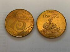 1976 COCA COLA COKE 75TH ANNIVERSARY BRASS COIN LOUISVILLE KENTUCKY