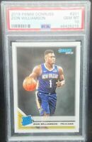Zion Williamson 2019 Panini Donruss RC Rookie # 201 Graded PSA Gem Mint 10