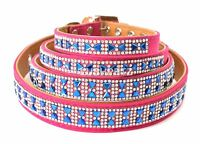 Wholesale joblot x 68 Pink and Blue Sparkly Rhinestone Bow Dog COLLAR