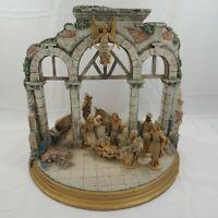 Vintage PETER WOLF Creche Roman Baroque Nativity Set with 13 Fontanini Figures