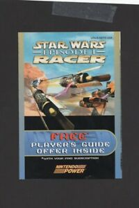 Star Wars Episode 1 Racer N64 Free Players Guide Offer INSERT ONLY Authentic