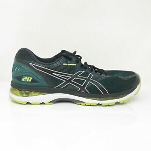 Asics Mens Gel Nimbus 20 T800N Black Yellow Running Shoes Lace Up Size 11.5