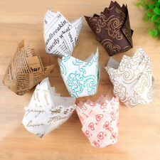 50Pcs Mutilcolor Cupcake Wrapper Liners Muffin Cup Tulip Case Cake Baking Cups