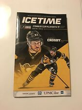 Pittsburgh Penguins Ice Time Program 2018 Stanley Cup Playoff Gm 1 Sidney Crosby