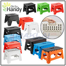 Heavy Duty Plastic FOLDABLE STEP STOOL Multi Purpose STEP Anti Slip Grip Kitchen