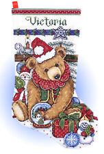 Cross Stitch Kit ~ Design Works Victorian Teddy Bear & Toys Stocking #DW5391
