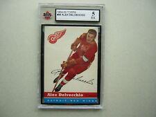 1954/55 TOPPS NHL HOCKEY CARD #39 ALEX DELVECCHIO KSA 5 EX SHARP!! 54/55 TOPPS