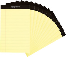 Amazon Basics Narrow Ruled 5 x 8-Inch Writing Pad - Canary (50 Sheet Paper Pads